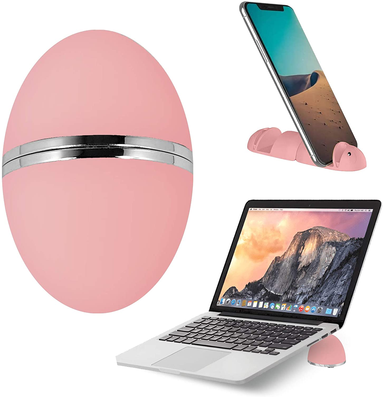 Versatile Laptop Stand (2021 Patented) - Birthday Gift for Kid - NUKOI 5 in 1 Portable Laptop/Tablet Stand, Mini Phone Holder for Children, Teenager, Junior, Senior, College Student, Traveller – Pink