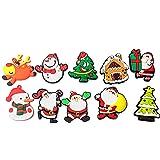Gosear 10 Piezas de Navidad navideño Estilo refrigerador imán Pegatinas imán de Nevera Ornamentos Llavero decoración al Azar Estilo