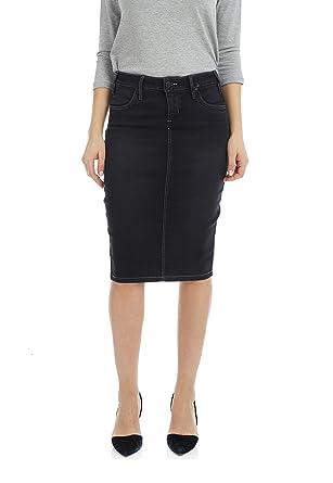 c8785c2fc Esteez Jean Skirt for Women Powerstretch Denim with Tummy Control at ...