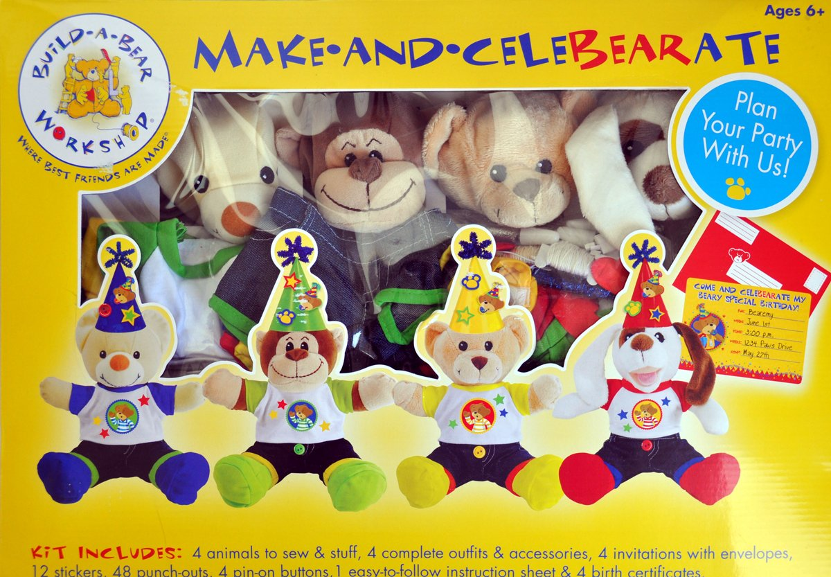 Amazon BuildABear Workshop Make and Celebrate Deluxe – Build a Bear Invitations Birthday