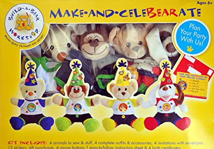 Amazon Com Build A Bear Workshop Make And Celebrate Deluxe