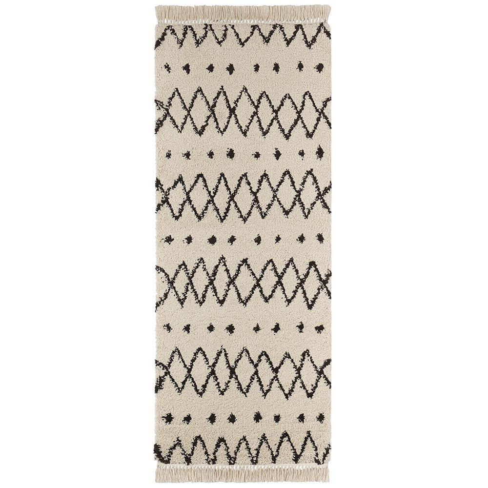 Freundin Polypropylen, Home Collection Calla Design Hochflorteppich mit Fransen, Polypropylen, Freundin Creme Braun, 170 x 120 x 0,35 cm 60ee7f