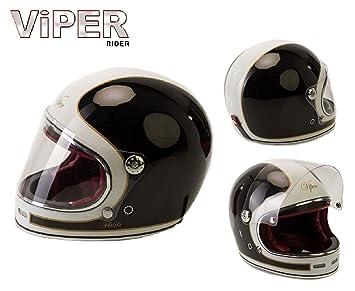 Moto Integral Casque Viper F656 Vintage Fibre De Verre Adulte Casque Moto Scooter Chopper Rãtro Classique Style Crash Course Tournee Sports Ece