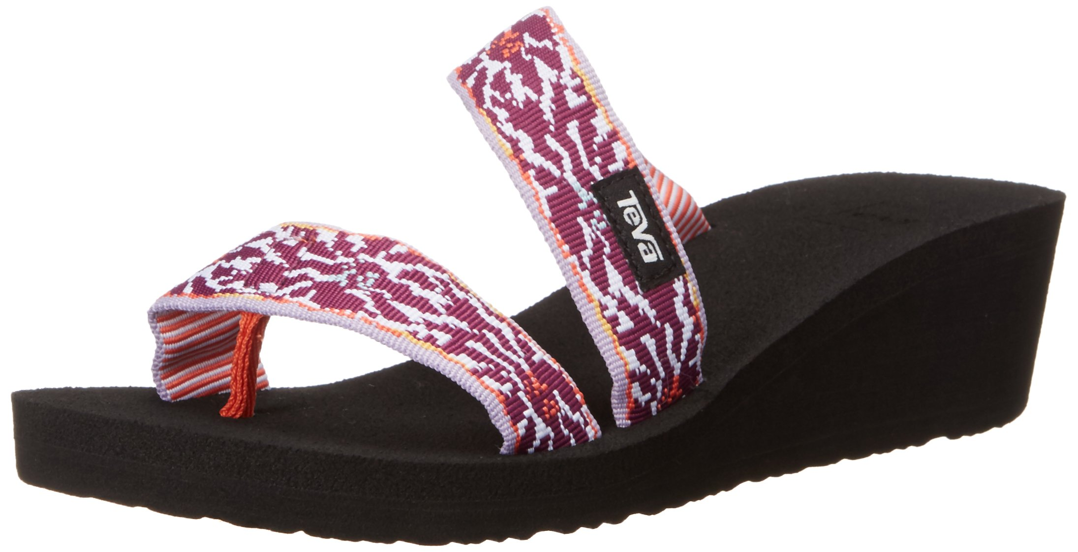 Teva Women's W Mush Mandalyn Wedge Loma Sandal, Lucia Multi/Purple, 6 M US