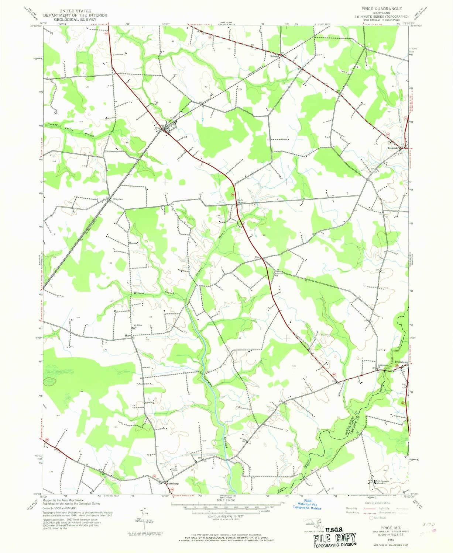Amazon Com Yellowmaps Price Md Topo Map 1 24000 Scale 7 5 X 7 5