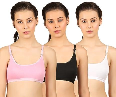 OyOmo Teenagers  bra Beginners  bra sports bra Pink White and Black ... bd575997c
