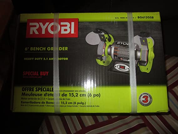 Groovy Ryobi 6 In Bench Grinder Bg612Gsb Gmtry Best Dining Table And Chair Ideas Images Gmtryco