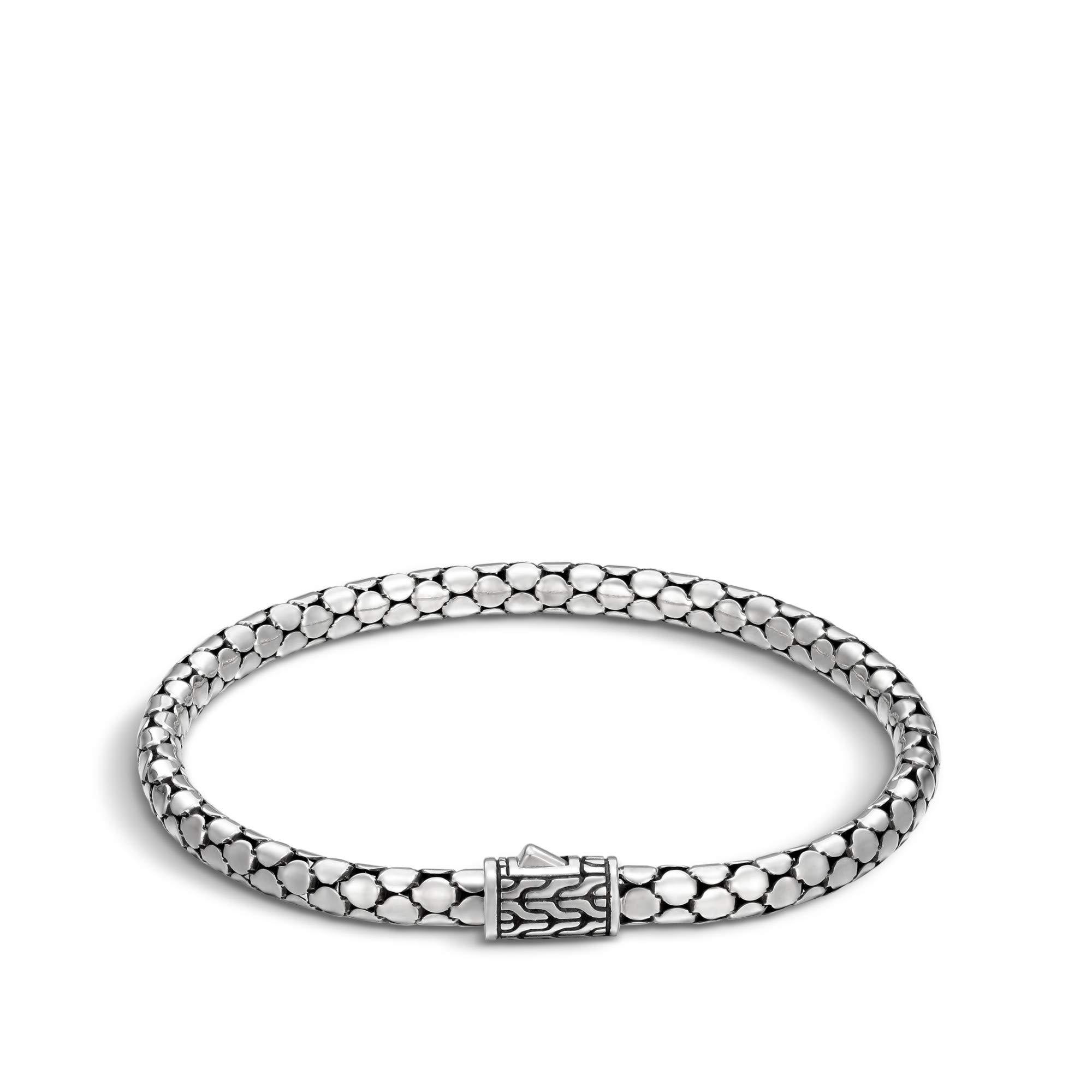 John Hardy Women's Dot Silver Slim Chain Bracelet, Size M