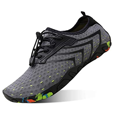 kealux Men Women Barefoot Quick-Dry Water Sports Shoes Multifunctional Sneakers with Drainage Holes for Swim, Walking, Yoga, Lake, Beach, Garden, Park, Driving, Boating | Water Shoes