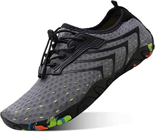 kealux Men Women Barefoot Quick-Dry Water Sports Shoes Multifunctional Sneakers with Drainage Holes for Swim, Walking, Yoga, Lake, Beach, Garden, ...