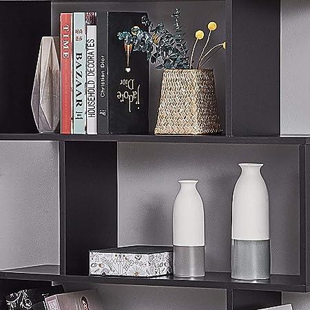 Panana Songtree - Librería de 6 Niveles Estantería para Libros Adornos Fotos División de Oficina Sala Dormitorio (80x23x192cm) (Negro)