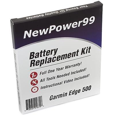 Kit de Reemplazo de la Batería para el Garmin Edge 500 GPS con Video de Instalación, Herramientas y Batería de Larga Duración