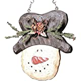Top Hat Snowman Hanging Decorative Winter Replacement Plaque for Arrow Holder