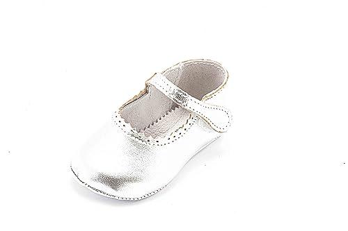 ABA , Chaussures souples pour bébé (fille) - argent - argent, 18 EU