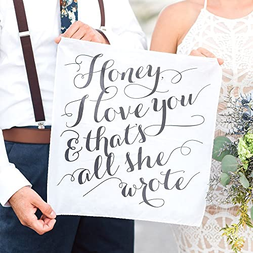 Amazon Gift For Groom Or Bride Love Quote Handkerchief Wedding
