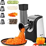 Homdox Electric Slicers, Professional Salad Maker, 150W Electric Slicer Shredder/Graters with One-Touch Control and 4 Free At