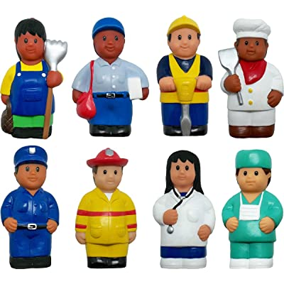 "Get Ready Kids 620 5"" Multicultural Career Figures, Set of 8 (Pack of 8): Toys & Games"