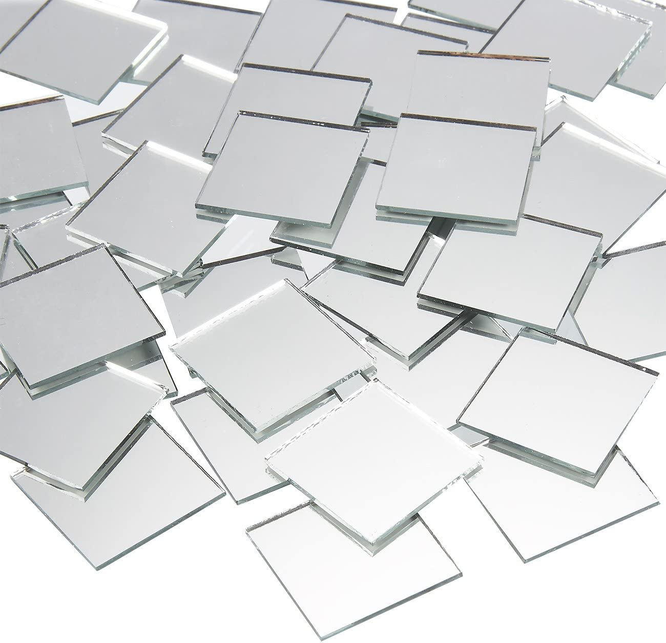 Juvale Square Mirror Tiles, Arts and Crafts Supplies (1 x 1 in, 120-Pack)