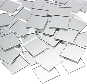 Amazon Com Juvale Square Mirror Tiles Arts And Crafts Supplies 1 X 1 In 120 Pack Furniture Decor