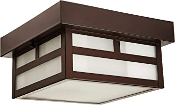 Acclaim 4708abz Artisan Collection 1 Light Ceiling Mount Outdoor Light Fixture Architectural Bronze Porch Lights Amazon Com