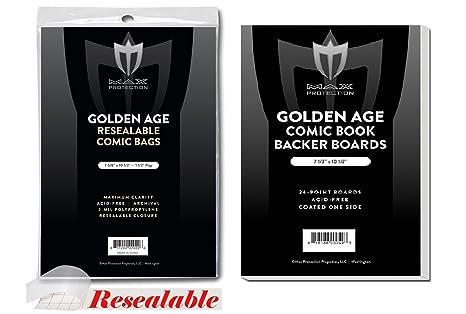 1000). Edad de Oro tamaño Ultra claro bolsas de cómic y ...