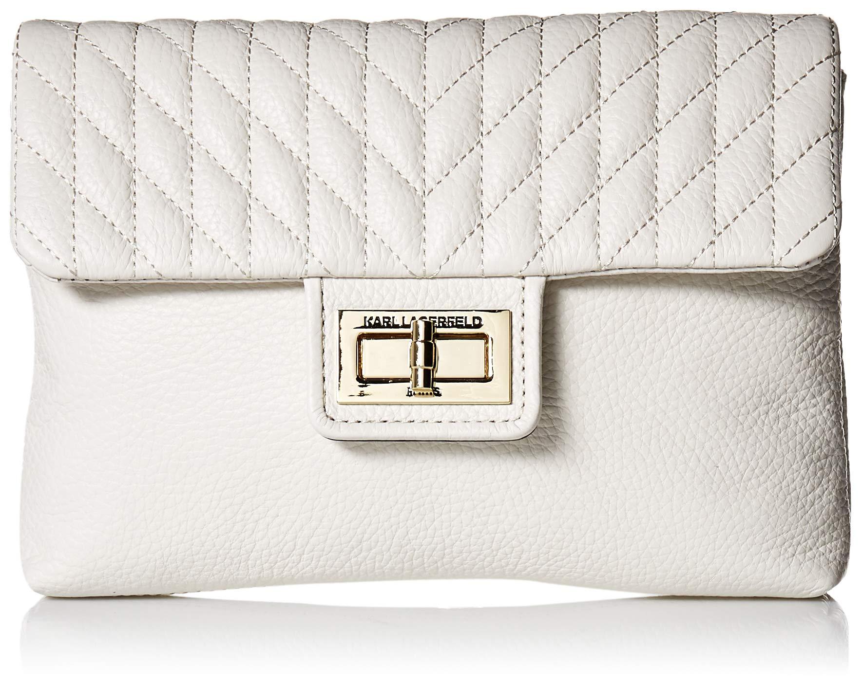 Karl Lagerfeld Paris Womens Agyness Belt Bag Winter White