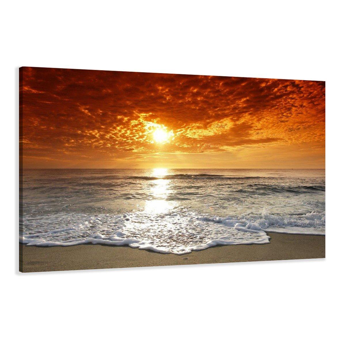 Wunderbar Schöne Leinwandbilder Galerie Von Visario 5038 Bild Auf Leinwand Strand, 120