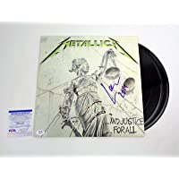 Lars Ulrich Metallica And Justice For All Signed Vinyl Record Album PSA/DNA COA