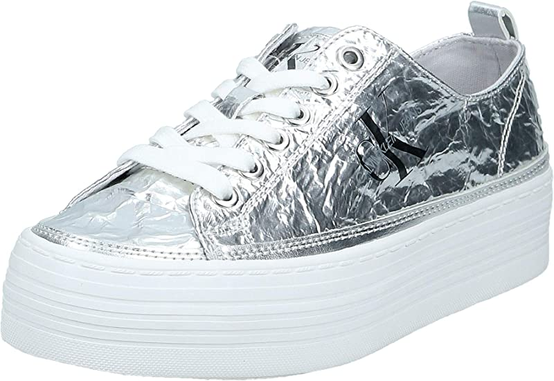 Calvin Klein Jeans Zolah Canvas Sneaker Damen Synthetik Silber