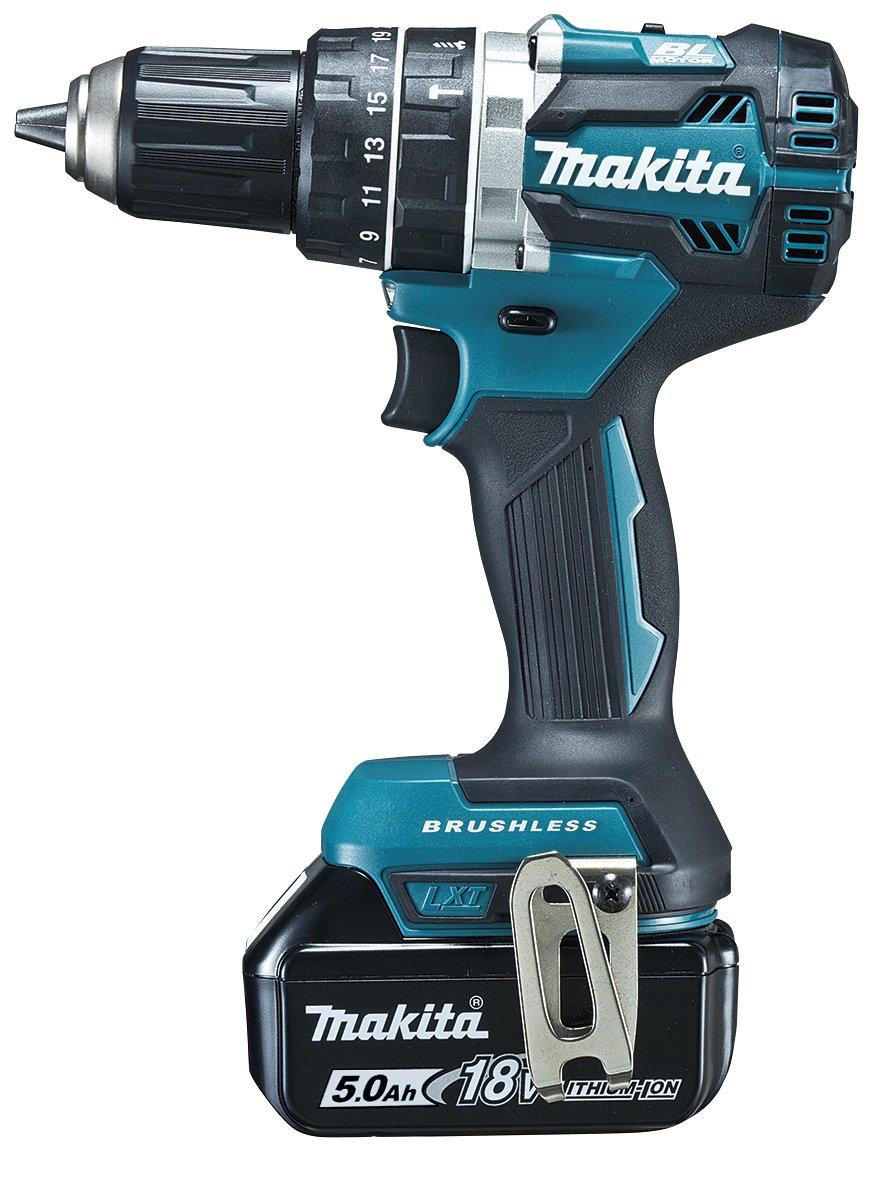 マキタ(Makita) 充電式震動ドライバドリル 18V 5Ah バッテリ2本充電器ケース付 HP484DRTX B077SNLDCN