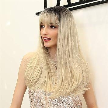 Amazon.com: Peluca de pelo sintético para mujer, color ...