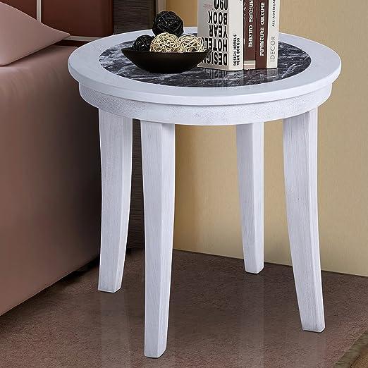 Amazon Com Primasleep 22 H Natural Marble Top Wood Legs Round