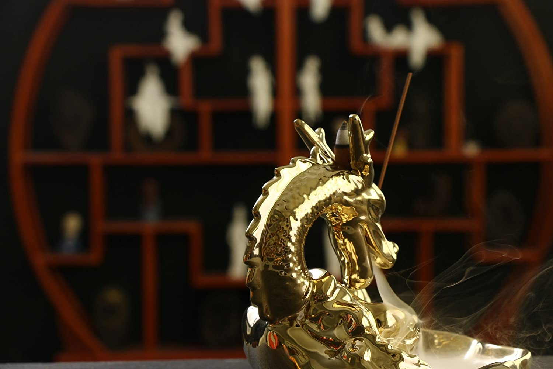 Gift Prod Alloy Magnet Lotus Stick Incense Burner and Cone Incense Holder Burner Holder for Stick and Coil Incense Incenses Not Included Style 29