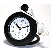 Water Resistant Black Bathroom Shower Rope Clock, Easy to Read Clock Face and Engineered with a Superior Quartz Movement