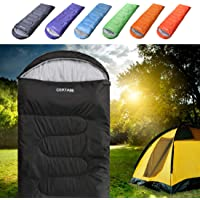 Sleeping Bag - Envelope Lightweight Portable Waterproof, for Adult 3 Season Outdoor Camping Hiking