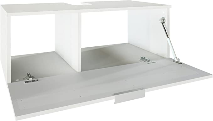 Vanity Unit Bathroom Furniture Cabinet Aloha V2 Carcass in White matt//Fronts in White High Gloss with Offsets in Bordeaux High Gloss with Counter Top Basin