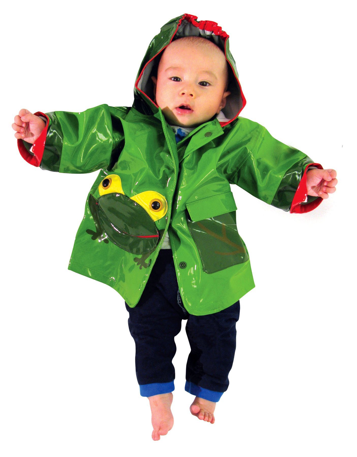 Kidorable Boys' Little Frog All Weather Waterproof Coat, Green, 4T by Kidorable