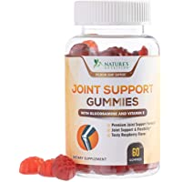 Joint Support Gummies Extra Strength Glucosamine Sulfate & Vitamin E Gummy - Naturally Assists Cartilage & Flexibility - Best Immune Support Chew for Men and Women - 60 Gummies