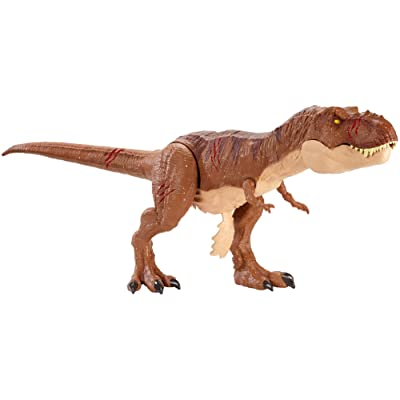 Jurassic World Battle Damage Roarin' Super Colossal Tyrannosaurus Rex Figure: Toys & Games