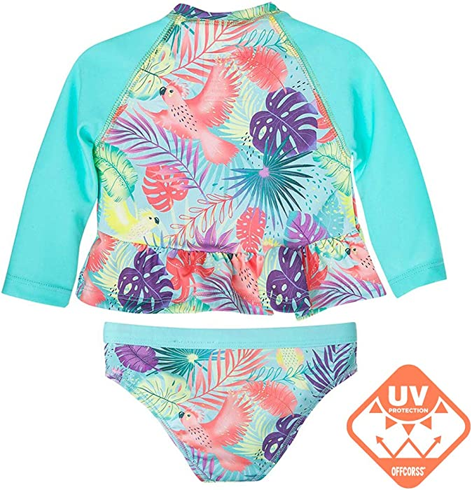 09c18cce34d40 Toddler Girl Long Sleeve Tankini Two Piece Swimsuit | Vestido de Baño