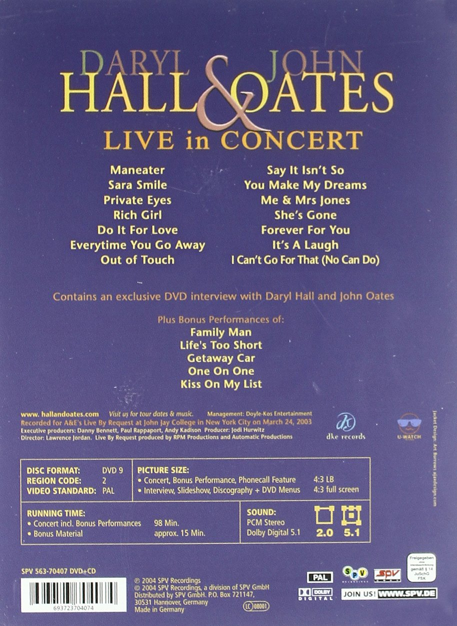 Daryl Hall & John Oates: Live in Concert