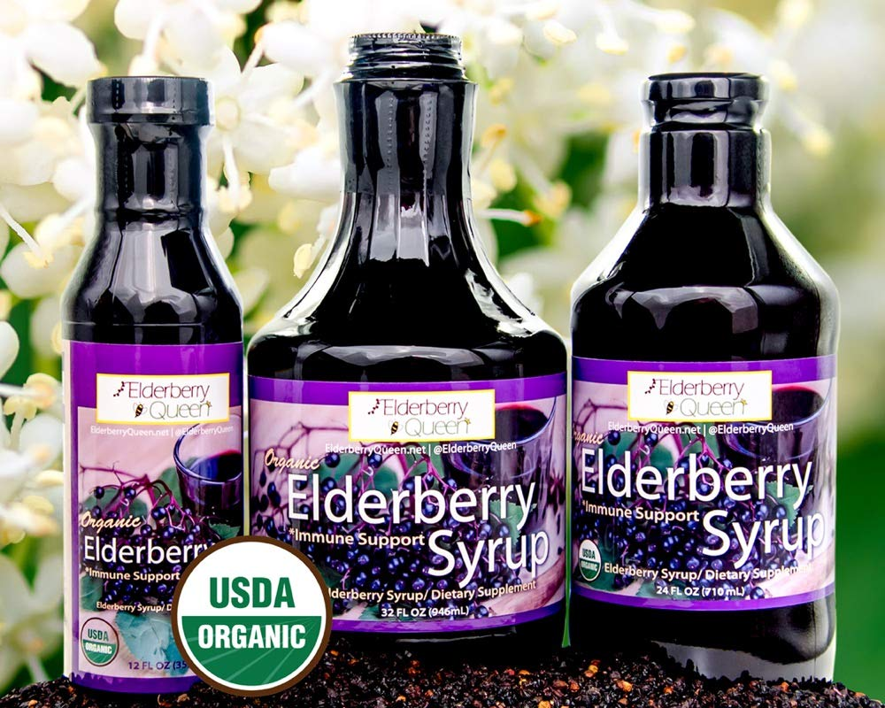 Organic Elderberry Liquid Syrup by Elderberry Queen- Sambucus, Aronia Berry, Pure Natural Certified Organic Immune Support Herbal Supplement (32oz) by Elderberry Queen (Image #8)