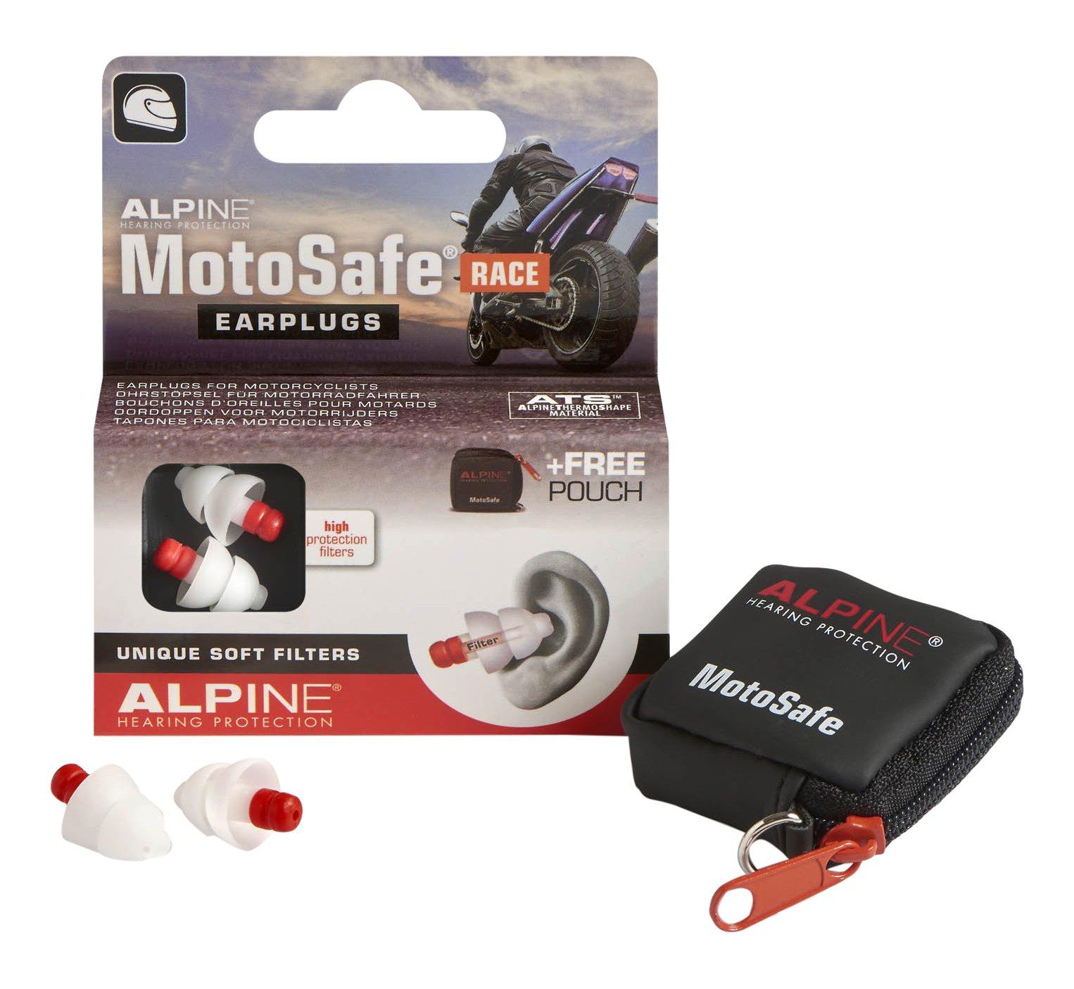 Alpine Hearing Protection Earplugs Motosafe, Race