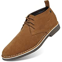 GM GOLAIMAN Men's Suede Chukka Boot Casual Lace Up Desert Boot Ankle Shoes Fit Comfortable Leather Shoes