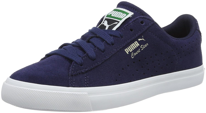 Puma Unisex-Erwachsene Court Star VULC Suede Low-Top  43 EU|Blau (Peacoat-puma White 03)