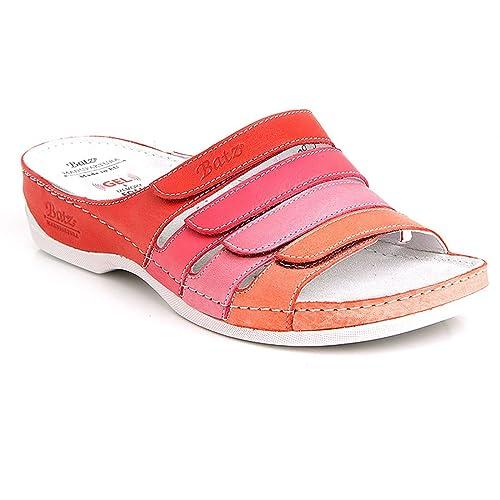f05b67e18 Batz Sylvia Leather Women Ladies Slip-on Sandals Clogs