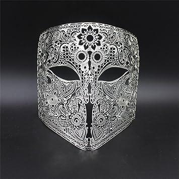 PromMask Mascara facialMueca Maquillaje máscara Baile de Fin de Curso Venecia Metal Cara Llena espectáculo Halloween