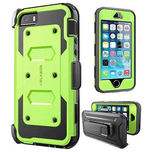 77 opinioni per Apple iPhone SE / 5S / 5 Cover, Protezione Slim i-Blason Armorbox Custodia