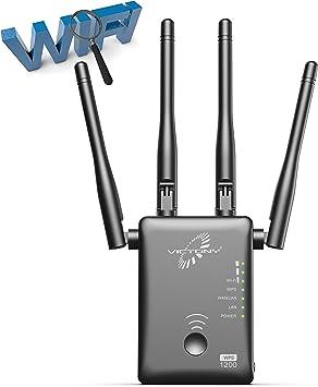 VICTONY - Amplificador WiFi con Puerto Ethernet, 1200 Mbps, 2 ...