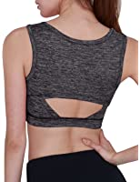 Yogareflex Women's Back Open Workout Yoga Sports Crop Tank Top